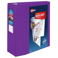 Avery 79816 Purple Heavy-Duty View Binder with 5 inch Locking One Touch EZD Rings