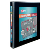 Avery 79710 Ultralast Black View Binder with 1 inch Non-Locking One Touch Slant Rings