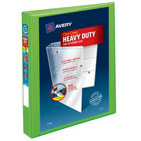 Avery 79770 Chartreuse Heavy-Duty View Binder with 1 inch Locking One Touch EZD Rings