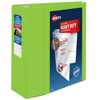 Avery 79815 Chartreuse Heavy-Duty View Binder with 5 inch Locking One Touch EZD Rings