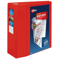 Avery 79327 Red Heavy-Duty View Binder with 5 inch Locking One Touch EZD Rings
