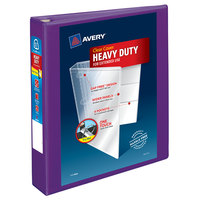 Avery 79774 Purple Heavy-Duty View Binder with 1 1/2 inch Locking One Touch EZD Rings