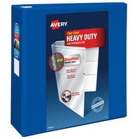 Avery 79814 Pacific Blue Heavy-Duty View Binder with 4 inch Locking One Touch EZD Rings
