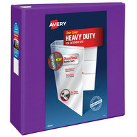 Avery 79813 Purple Heavy-Duty View Binder with 4 inch Locking One Touch EZD Rings