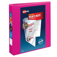Avery 79721 Pink Heavy-Duty View Binder with 1 1/2 inch Locking One Touch Slant Rings