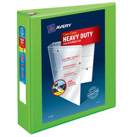 Avery 79776 Chartreuse Heavy-Duty View Binder with 2 inch Locking One Touch EZD Rings