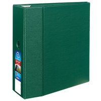 Avery 79786 Green Heavy-Duty Non-View Binder with 5 inch Locking One Touch EZD Rings / Thumb Notch