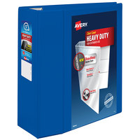 Avery 79817 Pacific Blue Heavy-Duty View Binder with 5 inch Locking One Touch EZD Rings