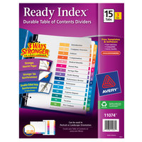 Avery 11074 Ready Index 15-Tab Multi-Color Paper Printable Customizable Table of Contents Divider Set   - 3/Pack
