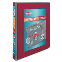 Avery 79736 Ultralast Red View Binder with 1 inch Non-Locking One Touch Slant Rings