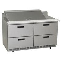Delfield STD4464N-18M 64 inch 4 Drawer Mega Top Refrigerated Sandwich Prep Table with 4 inch Backsplash