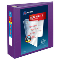 Avery 79810 Purple Heavy-Duty View Binder with 3 inch Locking One Touch EZD Rings