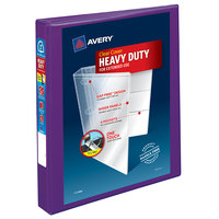 Avery 79771 Purple Heavy-Duty View Binder with 1 inch Locking One Touch EZD Rings