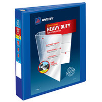 Avery 79775 Pacific Blue Heavy-Duty View Binder with 1 1/2 inch Locking One Touch EZD Rings