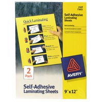 Avery 73602 12 inch x 9 inch Self-Adhesive Laminating Sheet - 2/Pack