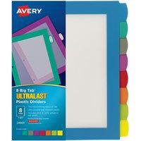 Avery 24901 Ultralast Big Tab 8-Tab Multi-Color Plastic Divider Set