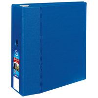 Avery 79886 Blue Heavy-Duty Non-View Binder with 5 inch Locking One Touch EZD Rings / Thumb Notch