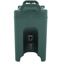 Carlisle XT250008 2.5 Gallon Forest Green Insulated Beverage Dispenser