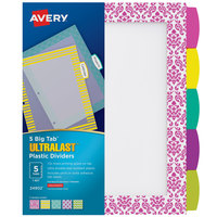 Avery 24902 Ultralast Big Tab 5-Tab Multi-Color / Design Divider Set