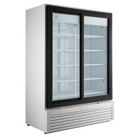 Beverage-Air MT53-1-SDW 54 inch Marketeer Series White Refrigerated Glass Door Merchandiser with LED Lighting