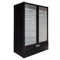 Beverage-Air MT53-1B 54 inch Marketeer Series Black Refrigerated Glass Door Merchandiser with LED Lighting