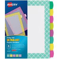 Avery 24903 Ultralast Big Tab 8-Tab Multi-Color / Design Divider Set