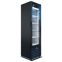Beverage-Air MT08-1H6B 19 inch Marketeer Series Black Refrigerated Glass Door Merchandiser with LED Lighting