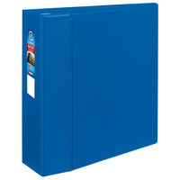 Avery 79884 Blue Heavy-Duty Non-View Binder with 4 inch Locking One Touch EZD Rings