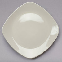 Tuxton BEH-090C DuraTux 9 inch Ivory (American White) Square China Plate - 12/Case