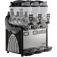 Narvon SM263 Triple 2.6 Gallon Pourover Granita / Slushy / Frozen Beverage Dispenser - 120V