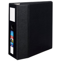 Avery 79996 Black Heavy-Duty Non-View Binder with 5 inch Locking One Touch EZD Rings / Label Holder