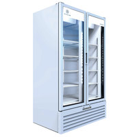 Beverage-Air MT49-1W 47 inch Marketeer Series White Refrigerated Glass Door Merchandiser with LED Lighting