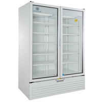Beverage-Air MT53-1W 54 inch Marketeer Series White Refrigerated Glass Door Merchandiser with LED Lighting