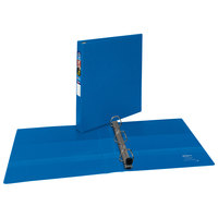 Avery 79889 Blue Heavy-Duty Non-View Binder with 1 inch Locking One Touch EZD Rings