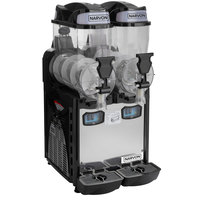 Narvon SM262 Double 2.6 Gallon Pourover Granita / Slushy / Frozen Beverage Dispenser - 120V