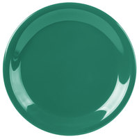 Carlisle 3300609 Sierrus 7 1/4 inch Meadow Green Narrow Rim Melamine Salad Plate - 48/Case