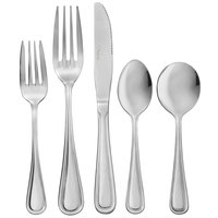 Acopa Edgewood 18/0 Stainless Steel Heavy Weight Flatware Set with Service for 12 - 60/Pack