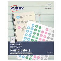 Avery 04221 3/4 inch Matte White Round Print-to-the-Edge Labels - 800/Pack
