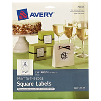 Avery 22816 TrueBlock 2 inch x 2 inch White Square Print-to-the-Edge Labels   - 120/Pack