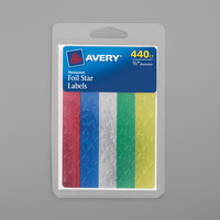 Avery 06007 1/2 inch Assorted Color Handwrite Only Foil Star Label - 440/Pack