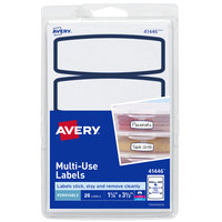 Avery 41446 3 1/2 inch x 1 1/4 inch White / Blue Arched Removable Printable Multi-Use Label   - 20/Pack