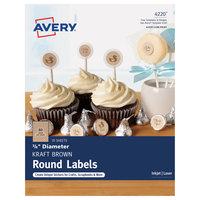 Avery 04220 3/4 inch Kraft Brown Round Print-to-the-Edge Labels - 800/Pack