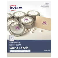 Avery 04222 3/4 inch Glossy Clear Round Print-to-the-Edge Labels - 400/Pack
