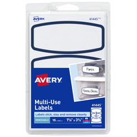 Avery 41445 3 3/4 inch x 1 5/8 inch White / Blue Arched Removable Printable Multi-Use Label - 15/Pack