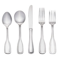 Acopa Saxton 18/0 Stainless Steel Heavy Weight Flatware Set with Service for 12 - 60/Pack