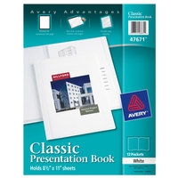 Avery 47671 11 inch x 8 1/2 inch White Polypropylene Classic Presentation Book with Translucent View Window, Letter