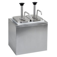 Stainless Steel Condiment Dispenser with 2 Pumps