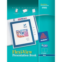 Avery 47692 Flexi-View 11 inch x 8 1/2 inch Navy Blue Polypropylene Presentation Book with Translucent View Window, Letter