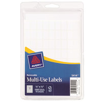 Avery 05414 3/8 inch x 5/8 inch White Rectangle Removable Multi-Use Labels - 1008/Pack