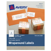 Avery 08217 7 17/20 inch x 1 3/4 inch Textured White Rectangle Waterproof Wraparound Labels - 50/Pack